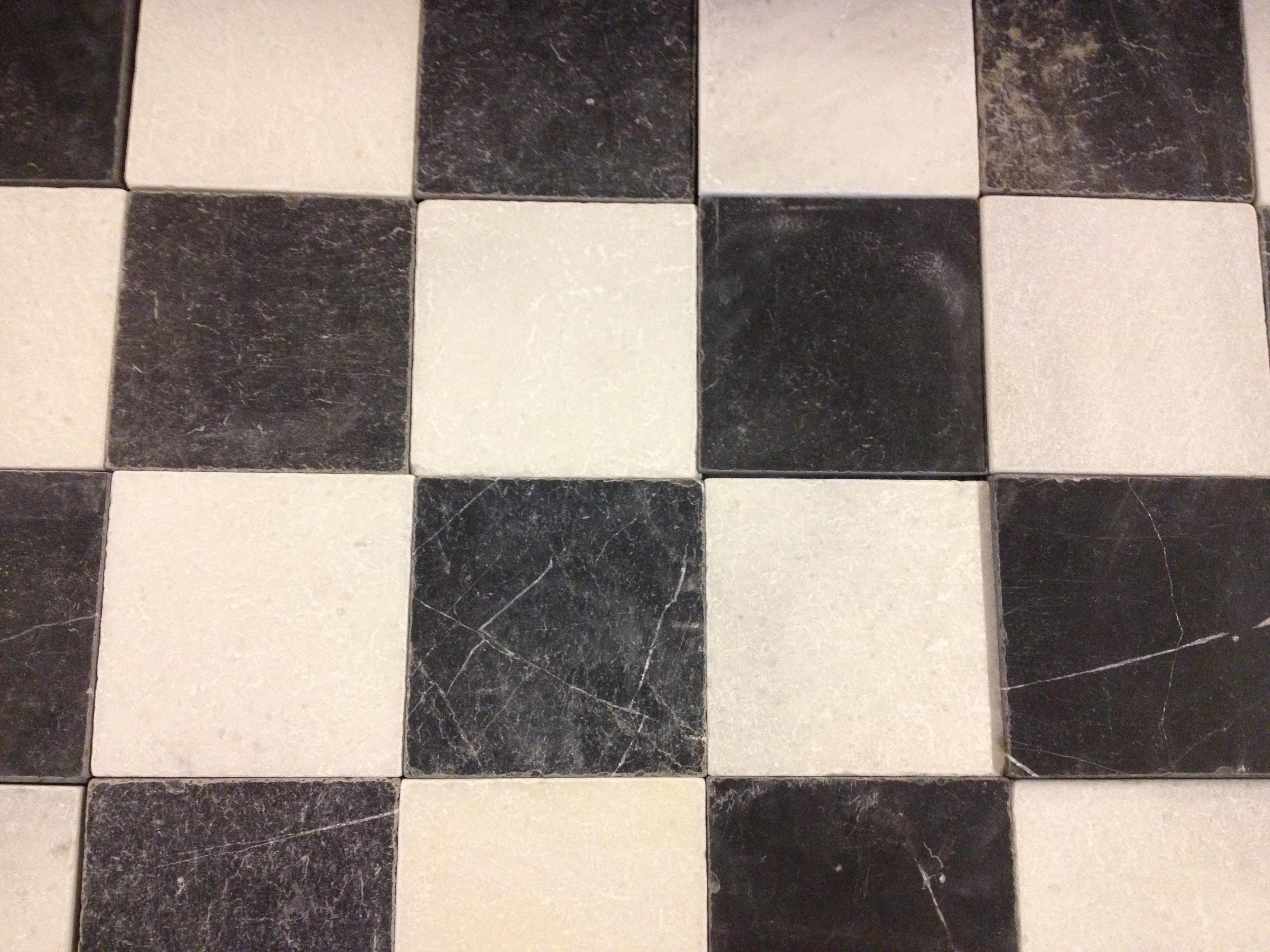 Verwonderlijk Prachtig zwart wit geblokt natuursteen op voorraad 20x20x1.5cm PL-56